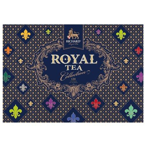 чай richard royal tea collection 20 сашет Чай Richard Royal tea collection ассорти в пакетиках подарочный набор, 120 шт.