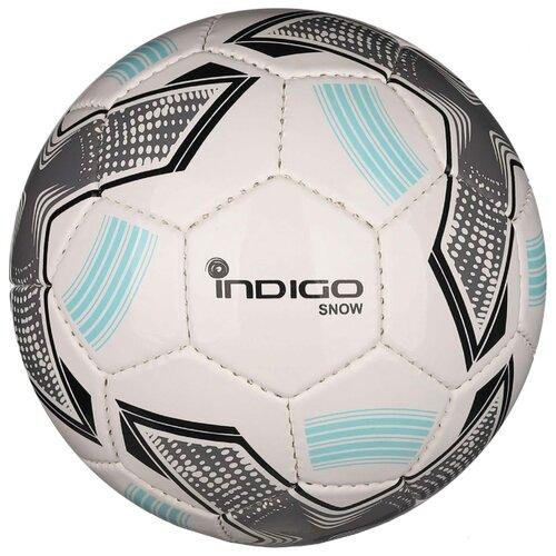 Футбольный мяч Indigo SNOW IN029 белый/серый/голубой 2Мячи<br>