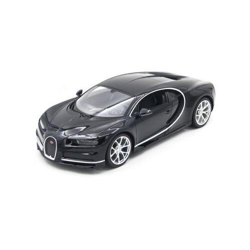 Купить Легковой автомобиль Rastar Bugatti Chiron (75700) 1:14 32.4 см черный, Радиоуправляемые игрушки