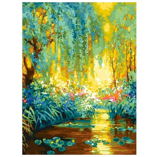 Купить Картина по номерам Майское утро в Живерни , 30x40 см, Белоснежка, Картины по номерам и контурам