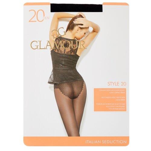 Колготки Glamour Style 20 den, размер 4-L, nero (черный) колготки glamour thin body 4 40 den черный