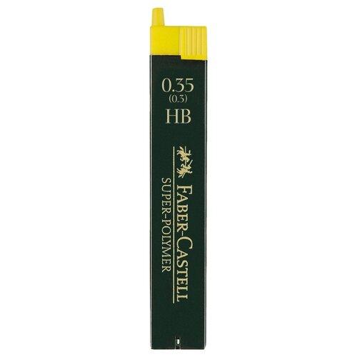 Фото - Faber-Castell Грифели для механических карандашей HB, 0,35 мм, 12 шт (120300) серый канцелярия faber castell грифели для механических карандашей polymer 0 7 мм hb 12 шт