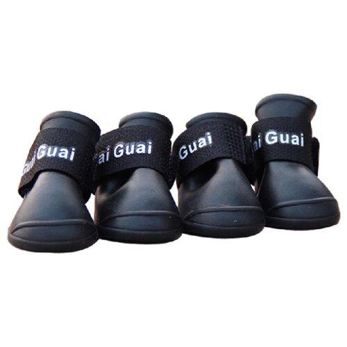 Ботинки для собак Грызлик Ам силиконовые M черный