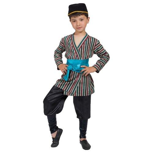 Купить Костюм Маскарад у Алисы Узбекский мальчик, серый, размер 36(140), Карнавальные костюмы