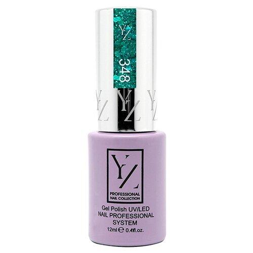 Купить Гель-лак для ногтей Yllozure Nail Professional System, 12 мл, оттенок 348 искристый мятный