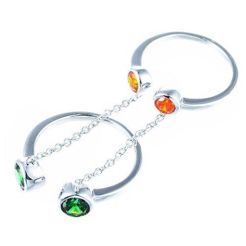 Фото - JV Серебряное кольцо с кубическим цирконием ML02259A-KO-001-WG, размер 18 jv серебряное кольцо с кубическим цирконием dm0026r ko 001 wg размер 18
