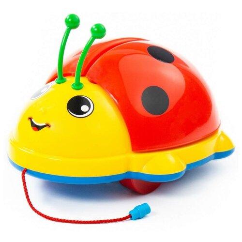 Фото - Каталка-игрушка Molto Божья Коровка 7888 (в сеточке) со звуковыми эффектами красный/желтый/голубой каталка качалка molto джип викинг 3392 62963 62970 62987 со звуковыми эффектами красный