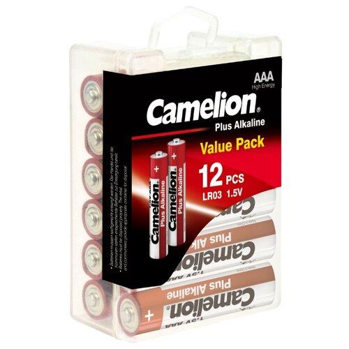 Фото - Батарейка Camelion Plus Alkaline AAA 12 шт блистер батарейка camelion cr1216 5 шт блистер