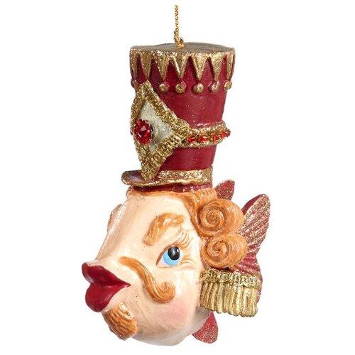Елочная игрушка Goodwill Рыбка 13 см (B 95600) бордовый.