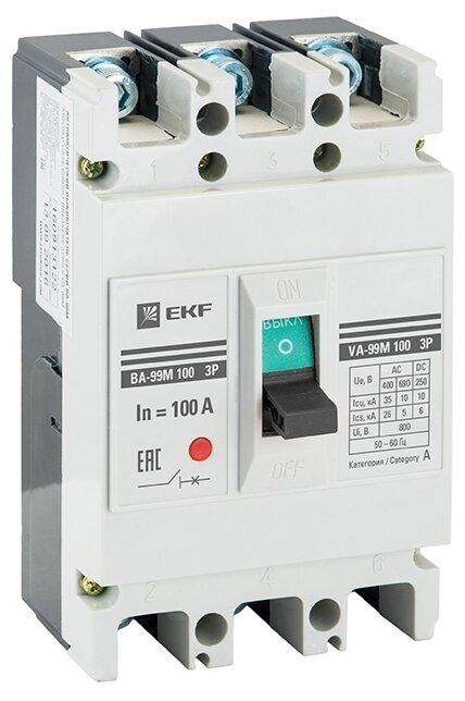 Автоматический выключатель EKF ВА-99М 100 3P (термомагнитный) 20kA