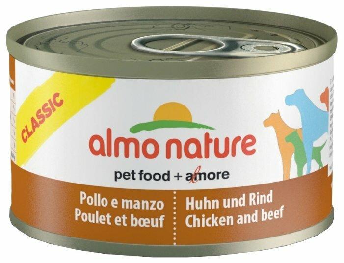 Корм для собак Almo Nature Classic курица, говядина 95г