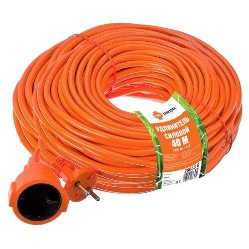 Удлинитель силовой шнур PEK 1300Вт 40м без заземления 1гнездоПан Электрик