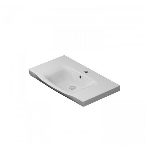 Раковина-столешница 80 см AM.PM M80WCC0802WG белый глянец раковина мебельная am pm like керамическая 80 см встроенная белый глянец m80wcc0802wg