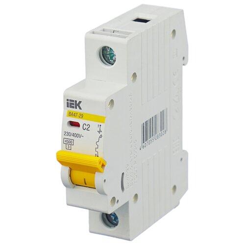 Автоматический выключатель IEK ВА 47-29 1P (C) 4,5kA 2 А автоматический выключатель эра ва 47 29 1p c 4 5ka 16 а