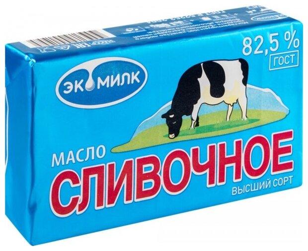 Экомилк Масло сливочное 82.5%, 180 г