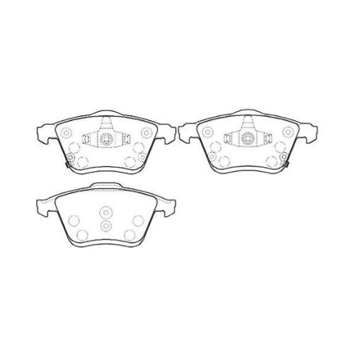 Дисковые тормозные колодки передние HONG SUNG BRAKE HP8226 для Mazda 6 (4 шт.) дисковые тормозные колодки передние hong sung brake hp8153 для honda civic 4 шт