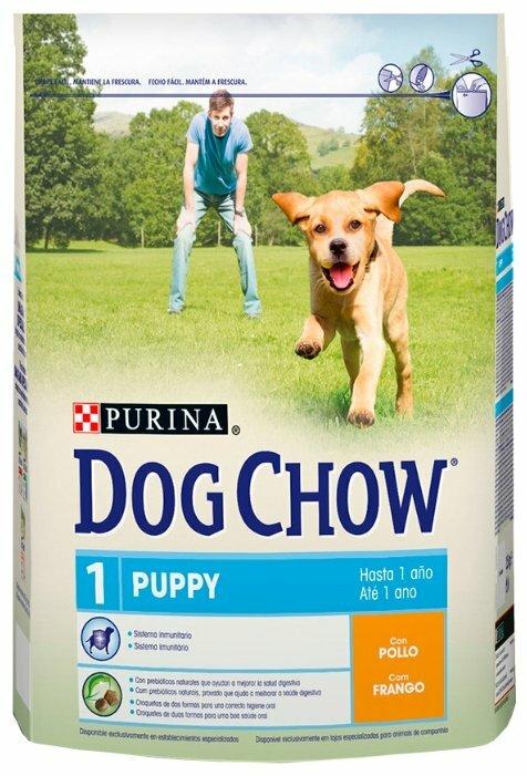 Корм для щенков DOG CHOW курица 800г