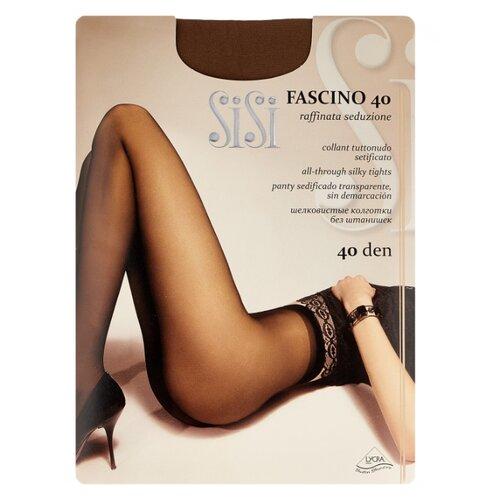 Колготки Sisi Fascino 40 den, размер 5-MAXI XL, naturelle (коричневый) колготки sisi miss 15 den размер 5 maxi xl naturelle коричневый