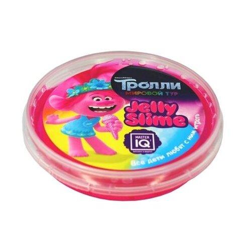 Купить Лизун Master IQ² Jelly Slime Тролли. Мировый тур розовый, Игрушки-антистресс