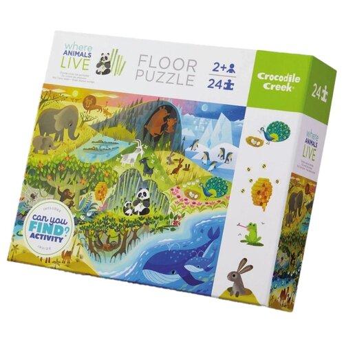 цена на Пазл Crocodile Creek Жизнь животных (834733), 24 дет.