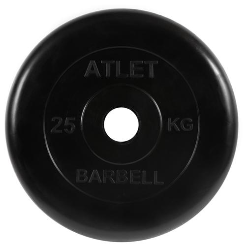 Фото - Диск MB Barbell MB-AtletB51 25 кг черный диск mb barbell mb atletb26 25 кг черный