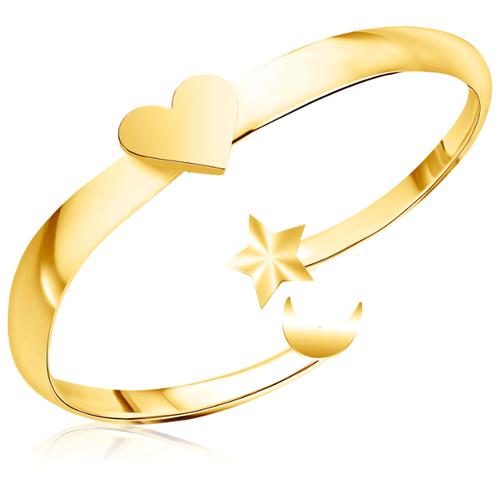 Бронницкий Ювелир Кольцо из желтого золота 55310095, размер 15
