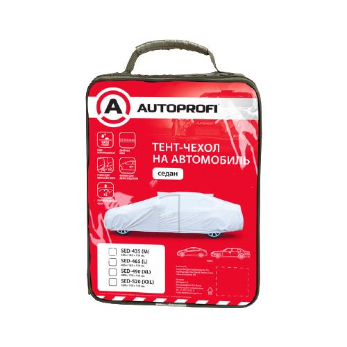 Тент AUTOPROFI SED-465 465x165x119 серый