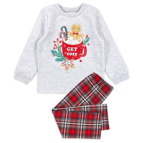 Фото - Пижама Веселый Малыш размер 92, серый/красный пижама веселый малыш размер 92 серый синий