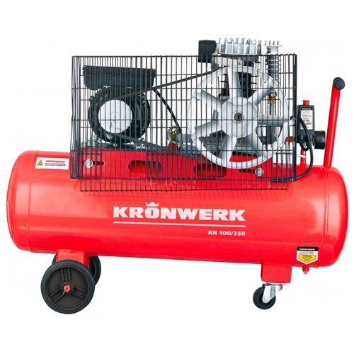 Компрессор масляный Kronwerk KR 100/350, 100 л, 2.2 кВт