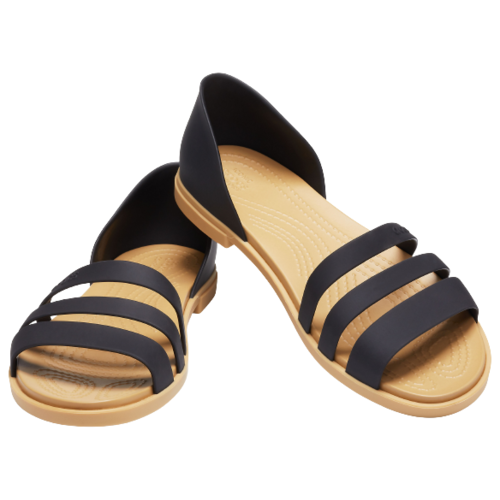 сабо женские crocs classic mammoth luxe цвет черный 204211 001 размер m7 w9 39 40 Сандалии Crocs Tulum Open Flat , размер 39(W9) , black/tan