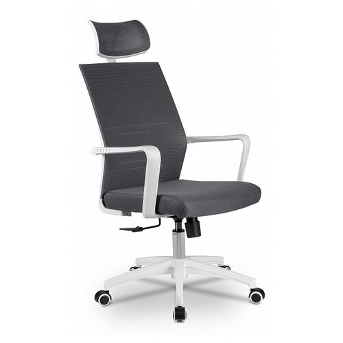 Компьютерное кресло Рива A819 офисное, обивка: текстиль, цвет: белый/серый компьютерное кресло рива 8074 офисное обивка текстиль искусственная кожа цвет оранжевый