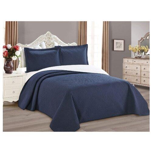 Комплект с покрывалом Cleo Luna 240х260 см, синий покрывало cleo muscat 001 mt