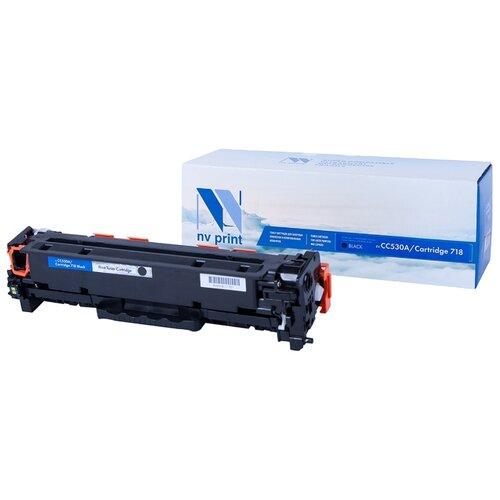 Фото - Картридж NV Print CC530A/718Bk для HP и Canon, совместимый картридж nv print q7551x для hp совместимый