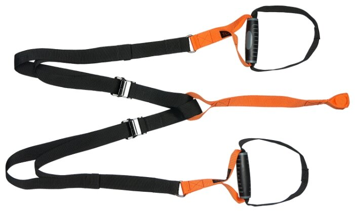 Тренажер универсальный TORRES Петли для подвесного тренинга AL1039 черный/оранжевый