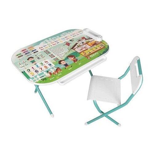 Набор детской мебели Дэми Английский, цвет: бирюзовый детские столы и стулья дэми набор мебели 1 радуга