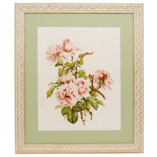Фото - Ажур Набор для вышивания крестиком Розовые розы 24 х 30 см (0007) ажур набор для вышивания крестиком цветущий кактус 26 х 17 см 0010