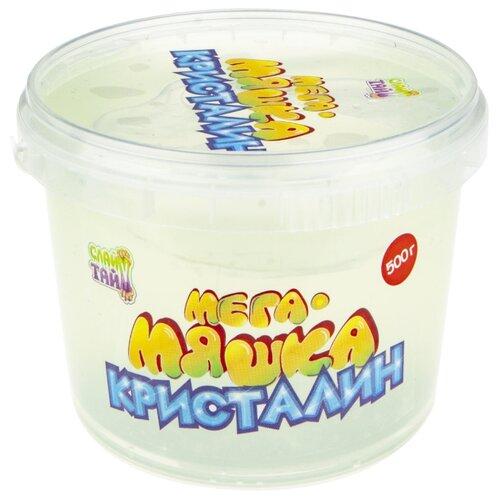 Лизун 1 TOY Мега-Мяшка Кристалин прозрачный