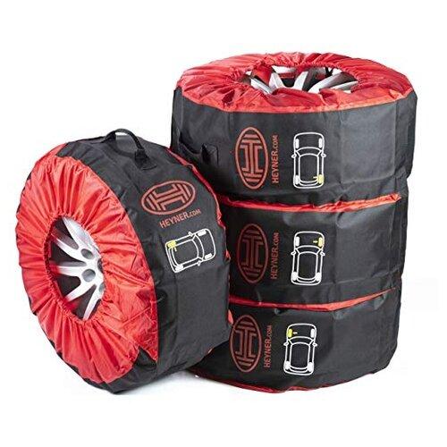 Чехлы для шин Heyner 735100, 4 шт черный/красный