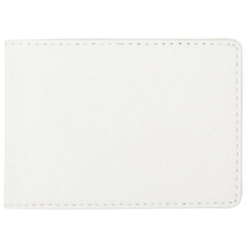 Картхолдер для карт тройка, москвенок, социальных и банковских карт с защитой белого цвета