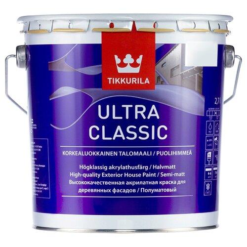 Краска акриловая Tikkurila Ultra Classic полуматовая 2.7 л