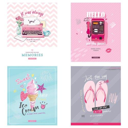 Купить ArtSpace Упаковка тетрадей Стиль. Girl's notes, Т48кТЛ_29686, 10 шт./4 дизайна, клетка, 48 л., Тетради
