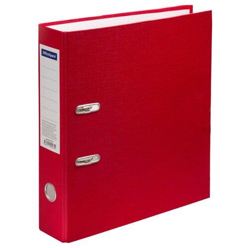 Купить OfficeSpace Папка-регистратор A4, бумвинил, 70 мм красный, Файлы и папки