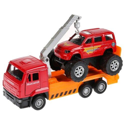 Набор машин ТЕХНОПАРК SB-17-24-O-WB красный/оранжевый