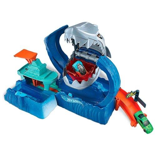 Купить Трек Hot Wheels City Robo Shark Frenzy GJL12, Детские треки и авторалли
