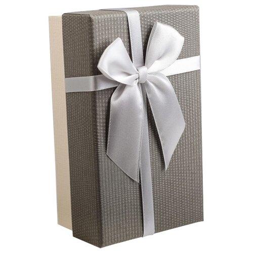 Коробка подарочная Yiwu Zhousima Crafts с бантом 15 х 6 х 9 см бежевый