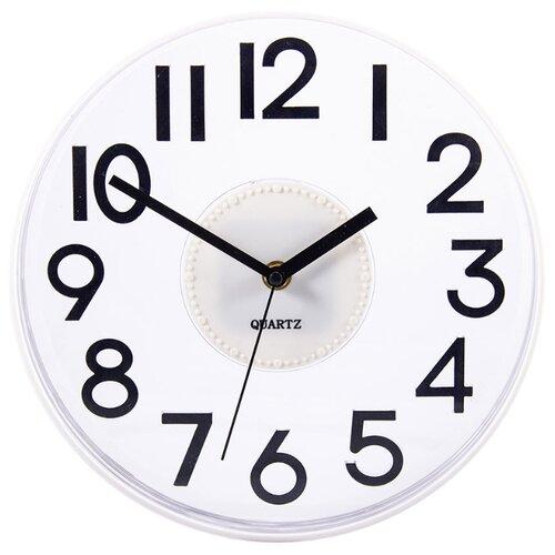 Часы настенные кварцевые Русские подарки 60643/60644 белыйЧасы настенные<br>