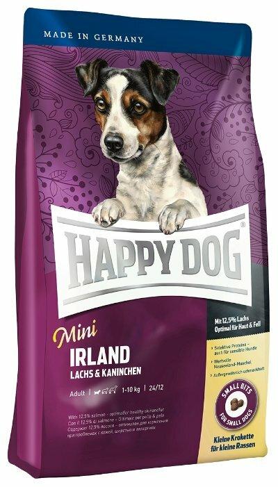 Корм для собак Happy Dog Mini Irland лосось, кролик 1.25 кг (для мелких пород)