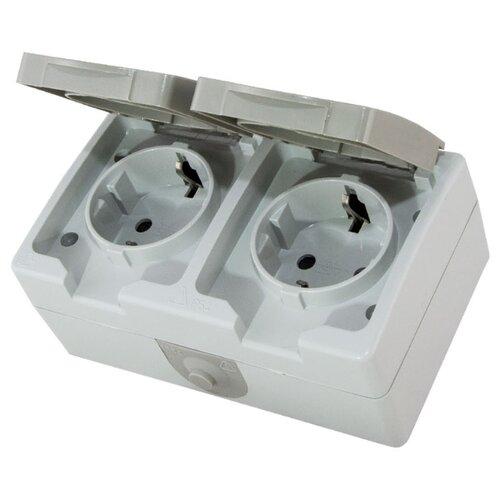 цены Розетка TDM ЕLECTRIC SQ1803-0008,16А, с заземлением, серый