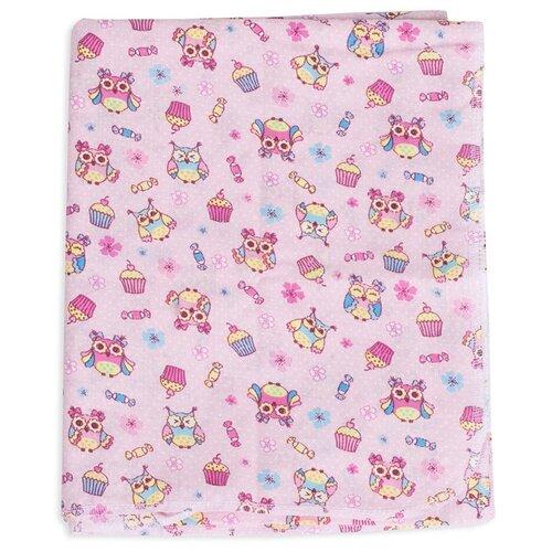 Многоразовые пеленки Чудо-Чадо Вариации ситец 120х90 розовый/совы