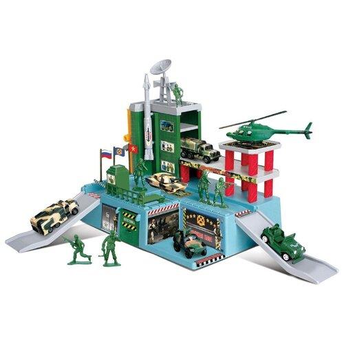 Купить Автоград Военный штаб 1342805 голубой/зеленый/красный/серый, Детские парковки и гаражи